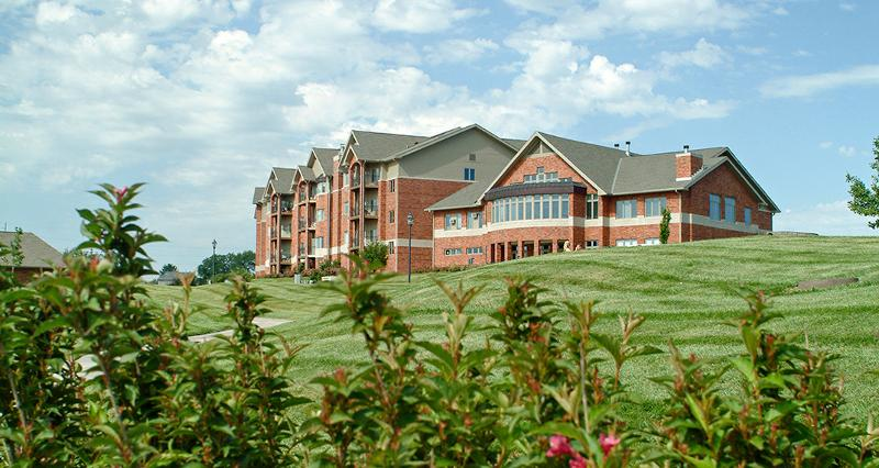 Exterior of Pacific Springs Village, a senior living community