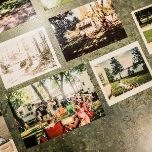 Photos from Pauline's camping collection.