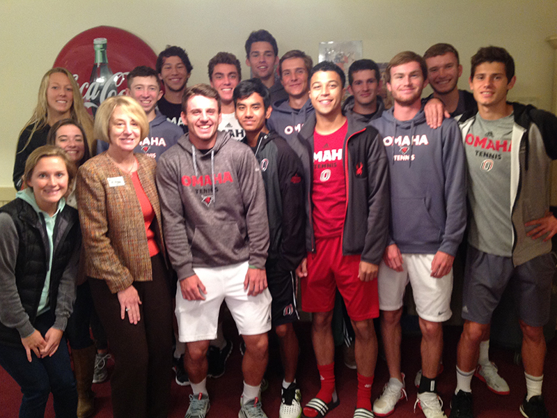 UNO Men's Tennis Team Stops By The Arboretum