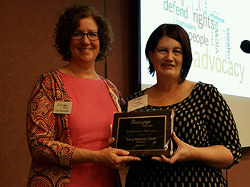 Tracy Robledo-Clark Receives Advoacy Award
