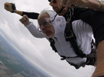 Trinity Courtyard Resident Goes Skydiving!