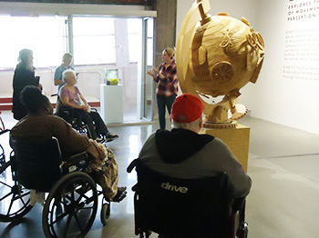 Participants from Pathways in Omaha Visit the Kaneko Gallery