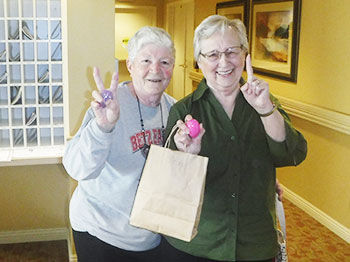 immanuel village residents share their prized easter eggs