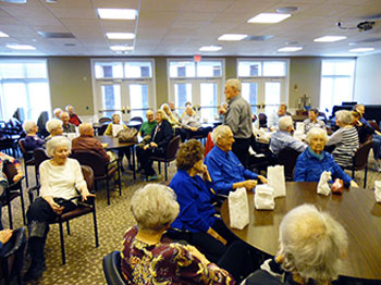 Residents at Pacific Springs Village participate in the annual Peanut Auction