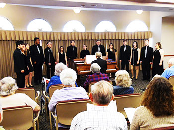 Touch of Class Jazz Choir performs at The Landing in Lincoln