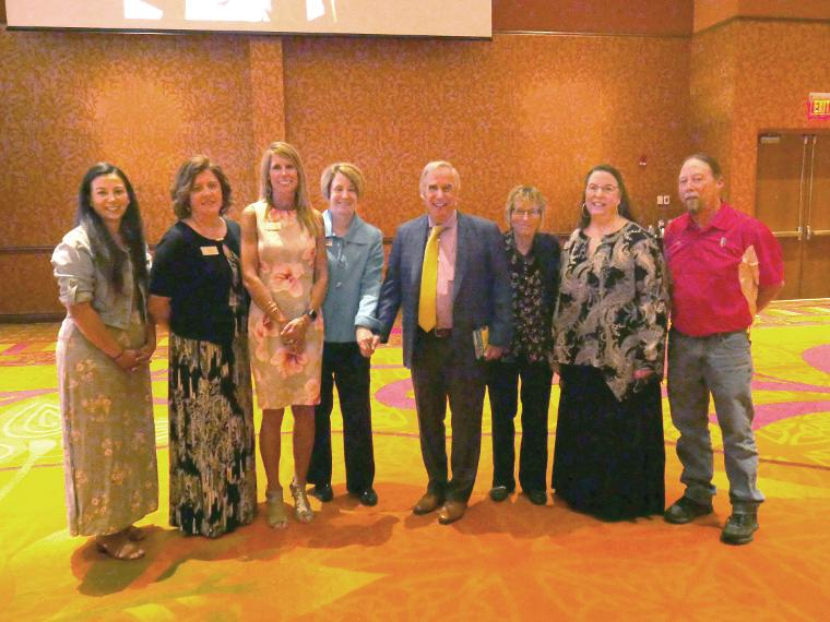 Employees and award winners from Immanuel pose with Henry Winkler at the 2018 Annual Appreciation Event